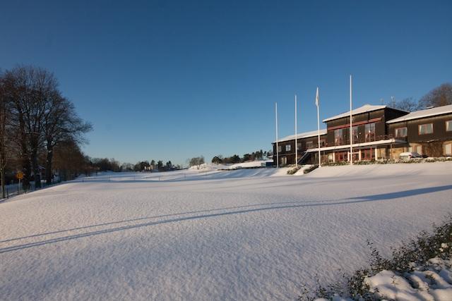 Klubbhus Snö Vinter