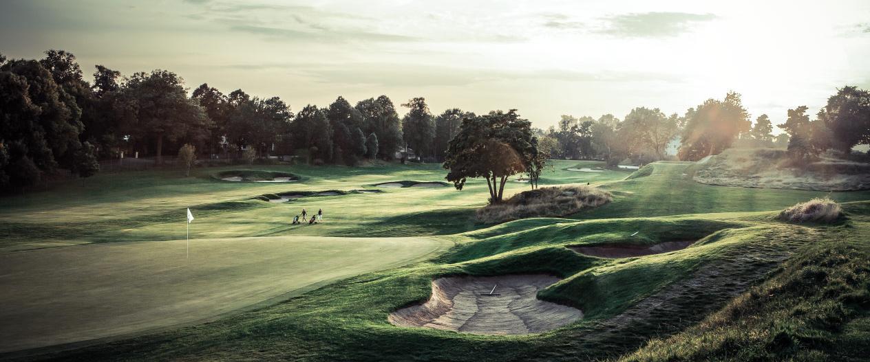 Golfspelare på Kevingebanan.